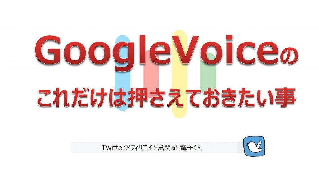GoogleVoiceのこれだけは押さえておきたい事
