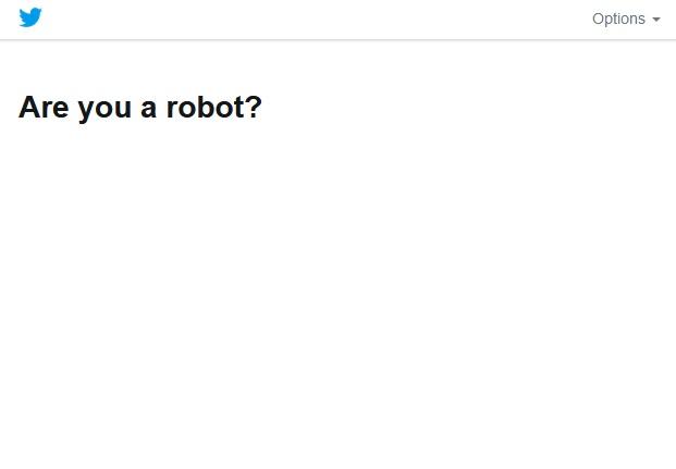 ロボットによる操作ではないことを確認が表示されない
