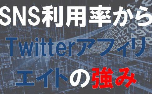 TwitterなどのSNSの利用者からみるTwitterアフィリエイトの強み